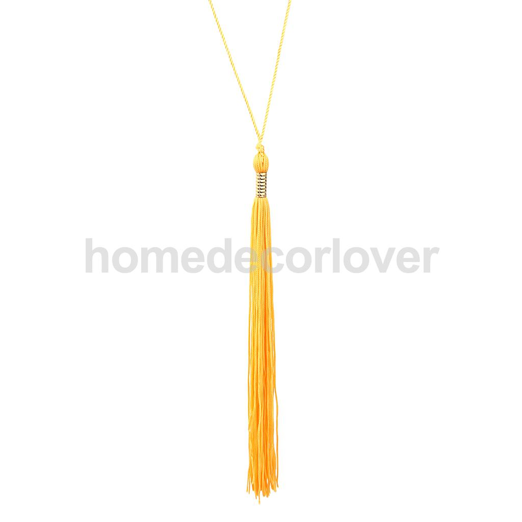 Quality Grad Royal Blue and White Graduation Tassel with 2020 Gold Charm for Graduation Cap or Souvenir