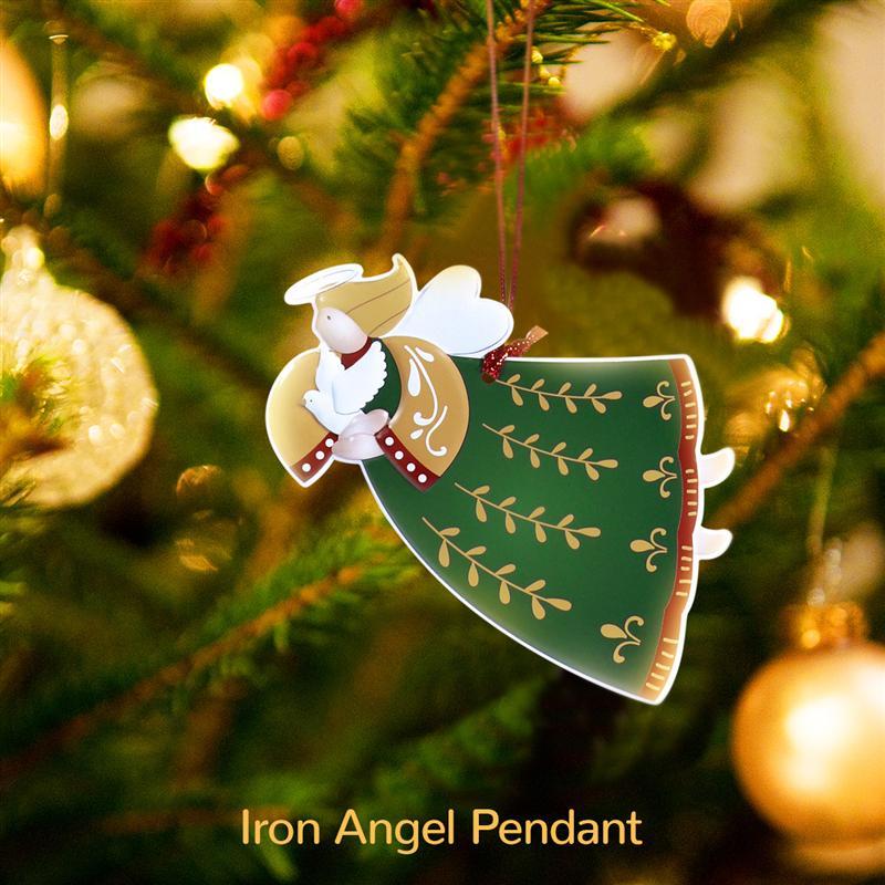 12pcs Hanging Angel Pendants Christmas Tree Ornament Snow Christmas