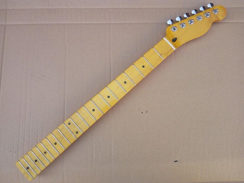 Guitar 21 Electric Guitar Retro Light Yellow Maple Fingerboard Neck