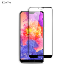 EXUNTON 5D Cold Carving Tempered Glass For Huawei P20 Pro 3D Full Cover Unbreakable Edge Screen Protector Lite
