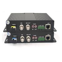 Высокое качество HD-SDI видео/аудио/Ethernet волоконно-оптические медаи-конверторы передатчик и Recevier для SDI CCTV, LC