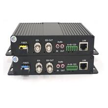 באיכות גבוהה HD SDI וידאו/אודיו/Ethernet ממירי מדיה סיב אופטי משדר וrecevier עבור SDI טלוויזיה במעגל סגור, LC