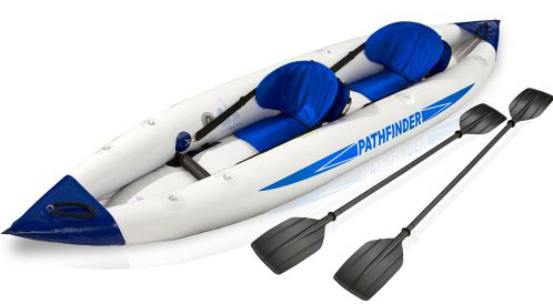 2 person pathfinder canoe inflatable boat sport kayak 400