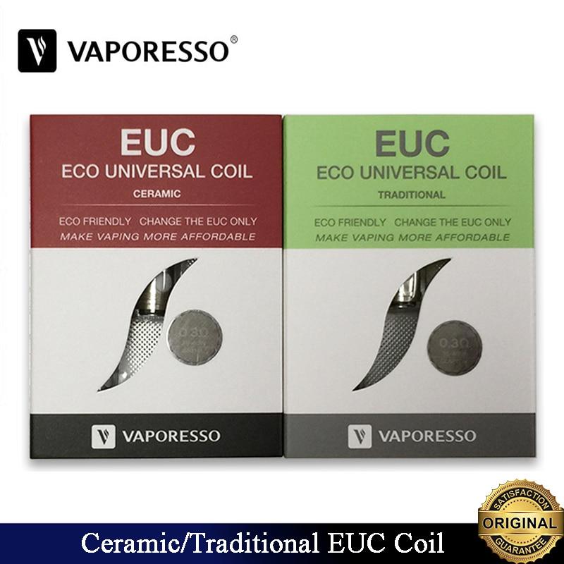 10pcs/lot Original Vaporesso Ceramic And Traditional EUC Clapton Coil 0.3ohm Fit Electronic Cigarette Vaporesso Veco One Tank
