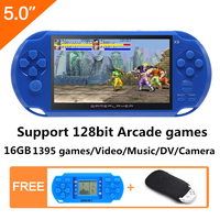5 inch 16GB 128bit Video Game Console Built in 1395 Games for cps/neogeo/gba/gb/snes/nes/sega Console for Kids Educational Toy