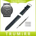 18mm Correa De Piel Genuina de Withings Activite/Acero/Pop Inteligente Reloj de La Venda de La Pulsera Negro Marrón Rosado Rojo blanco