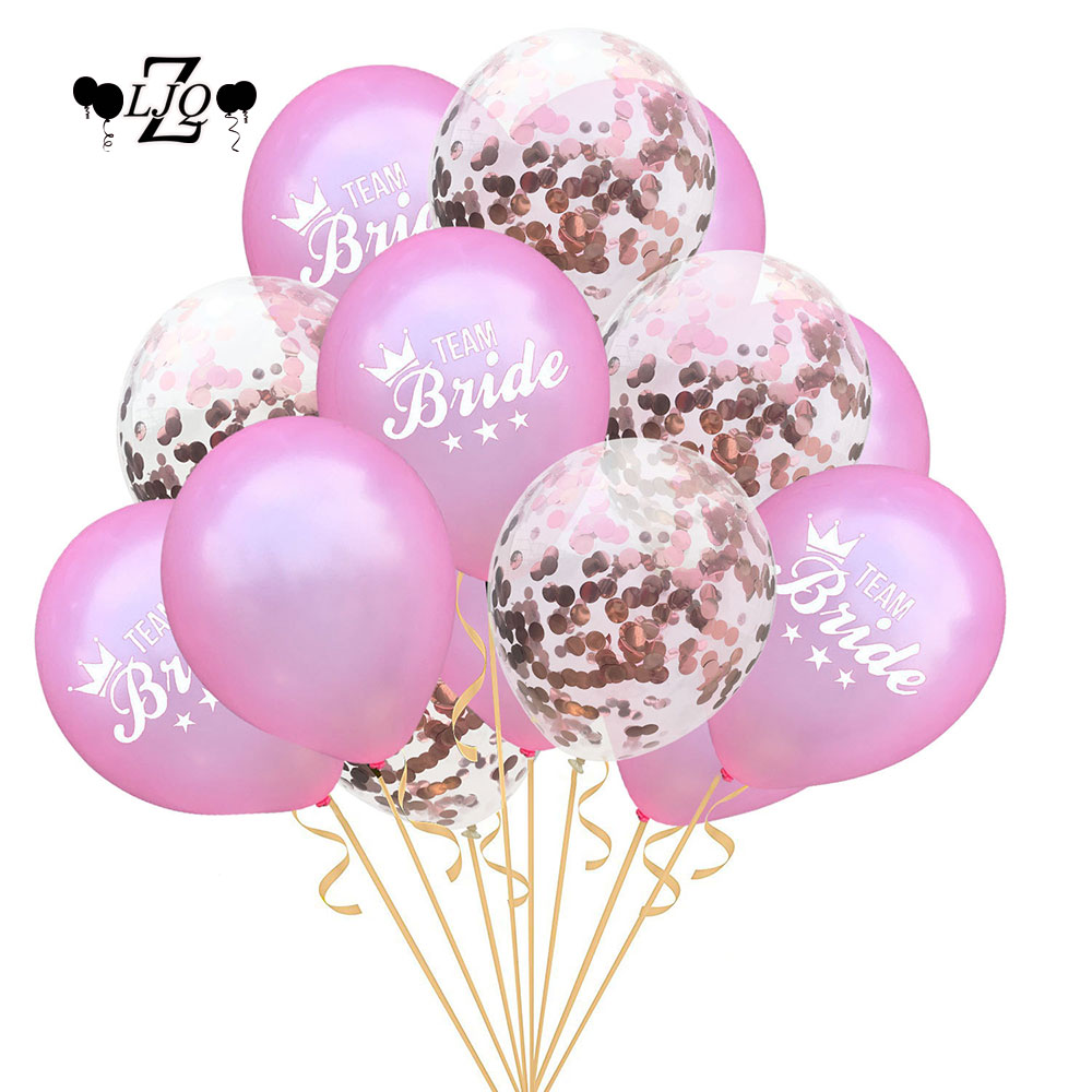 ZLJQ 15p Rose Gold She Said Yaaa And Pink Bride To Be Balloon For Bridal Shower Or Engagement Party Decoration Confetti Balloons