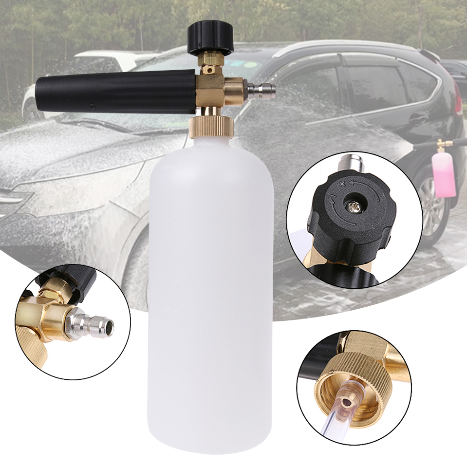 Multifunction Car-Styling Foam Gun Car Wash Pressure Washer Jet Wash 1/4 Quick Release Adjustable Snow Lance Foam Cannon Tool