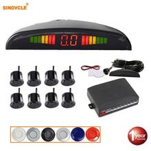 SINOVCLE רכב LED חיישן חניה ערכת 8 חיישני 22mm תאורה אחורית תצוגה הפוכה רדאר גיבוי צג מערכת 12 V 8 צבעים