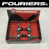 FOURIERS CNC Unique shape light weight Bike brake shoes for Double plate design canti brake system for road Bicycle