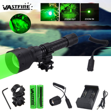 500 Yards 55mm Lens Zoomable Focus Tactical Under-barrel Hunting Flashlight Gun Light+Rifle Scope Mount+18650+USB Charger+Switch 1000 lm xml t6 led tactical flashlight hunting torch light rifle lights picatinny weaver mount charger 18650 battery