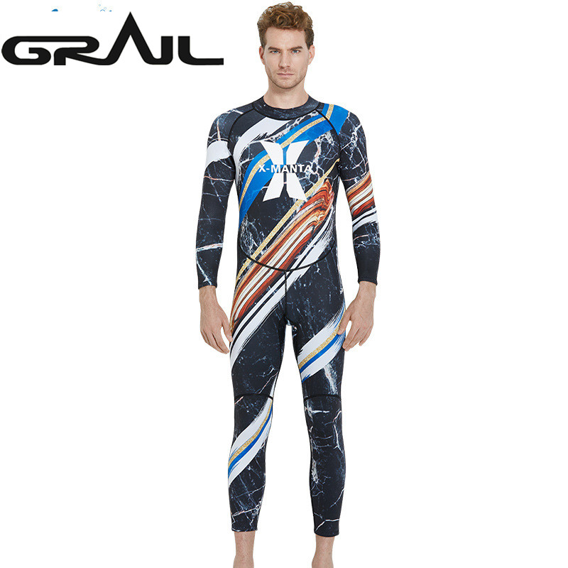 Men 1.5MM Neoprene Wet Suit Man Surfing Wetsuit Scuba Rash Guards Pattern Print Diving Equipment Full Body Jump Suit WS-18486 high quality cortex 3 5mm surf diving wet suits jacket men women surfing diving spearfishing wet suit long sleeve jacket wetsuit