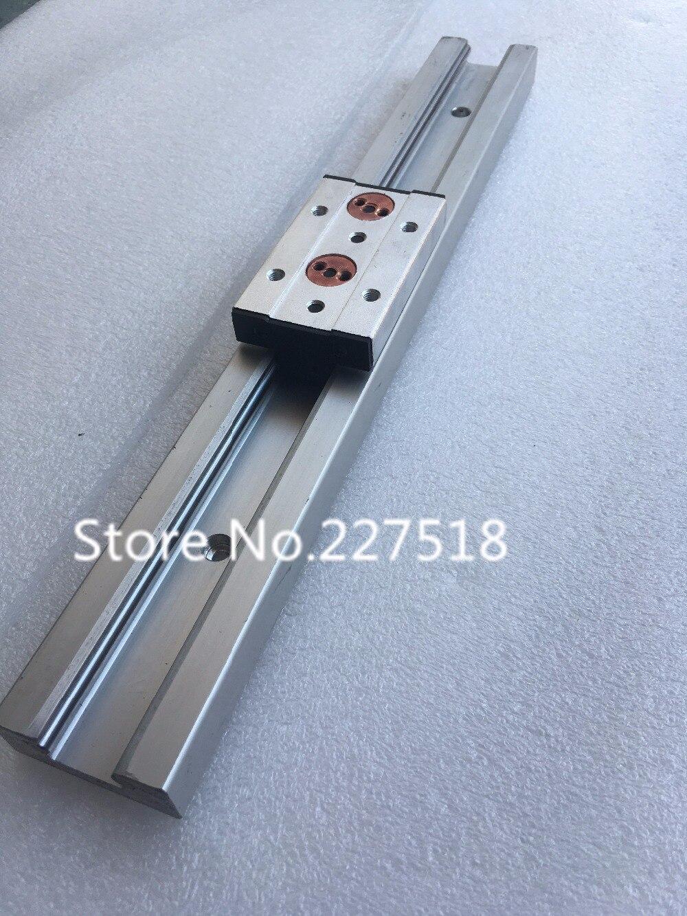 1 pcs Double axe rouleau linéaire guide SGR20 L600mm + 1 pcs SGB20UU bloc multi axe core linear Motion glisser rail auminum guide