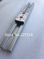 1pcs Double axis roller linear guide SGR20 L600mm +1pcs SGB20UU block multi axis core linear Motion slide rail auminum guide