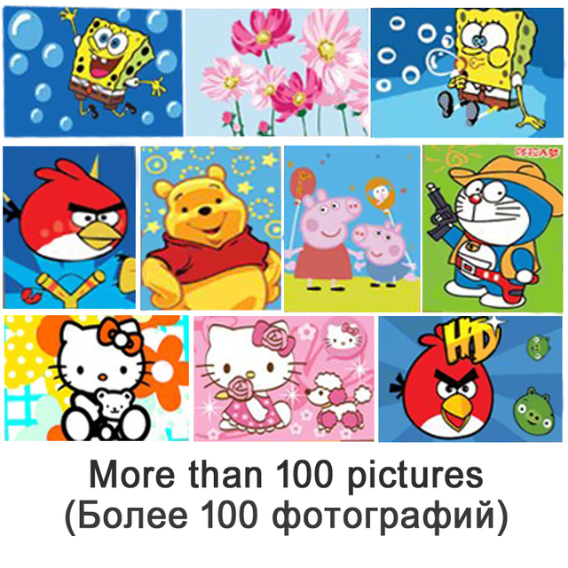 Wholesale Small DIY Oil Painting By Numbers Cartoon Kids Acrylic ...