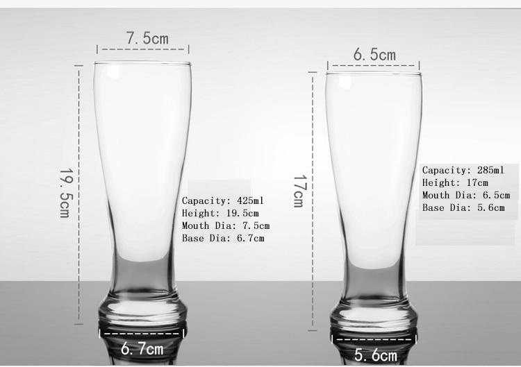 pint glass dimensions
