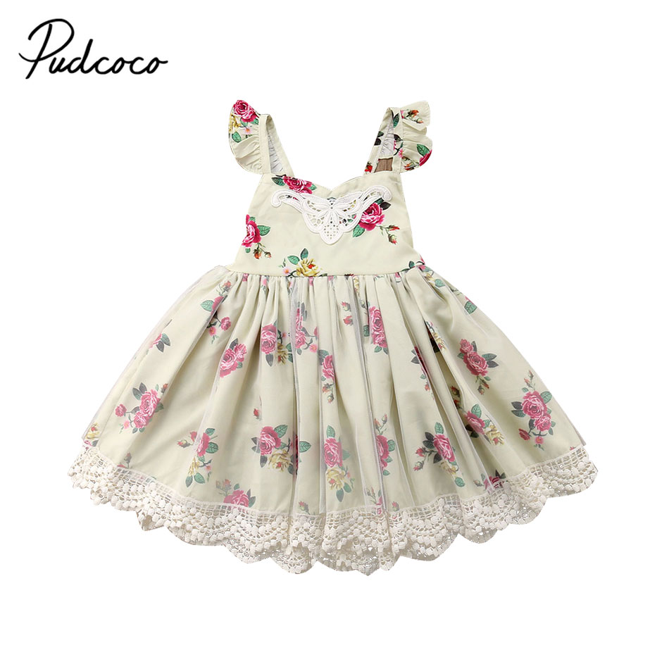 все цены на Summer Flower Dress Girl Princess Costume Dresses Girl Party Hoilday Wear Tulle Kids Children Prom Gown Vestido Formal Dress