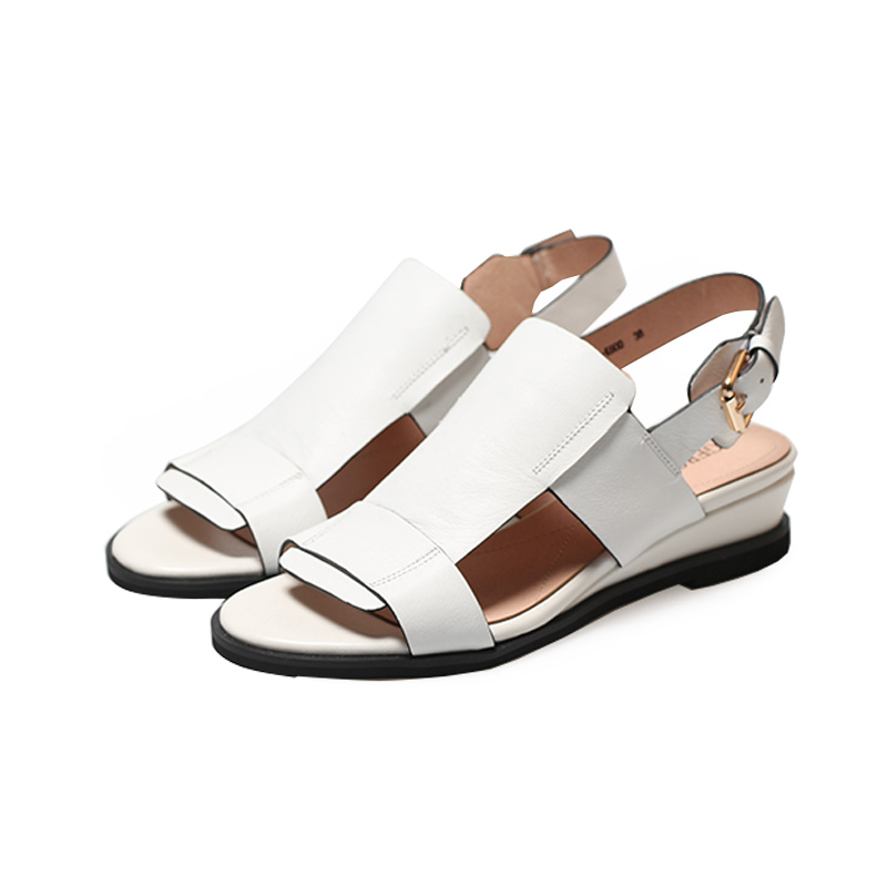 WETKISS Cow Leather Women Gladiator Sandals Open Toe Footwear Wedges Sandals Ladies Fashion Casual Shoes Women Summer 2019