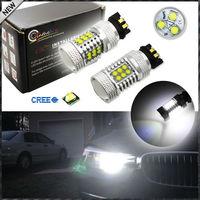 (2) 6000 K Xénon Blanc 21-SMD CRE'E PW24W LED Ampoules Pour BMW F30 3 Série Halogène Projecteur Feux de jour