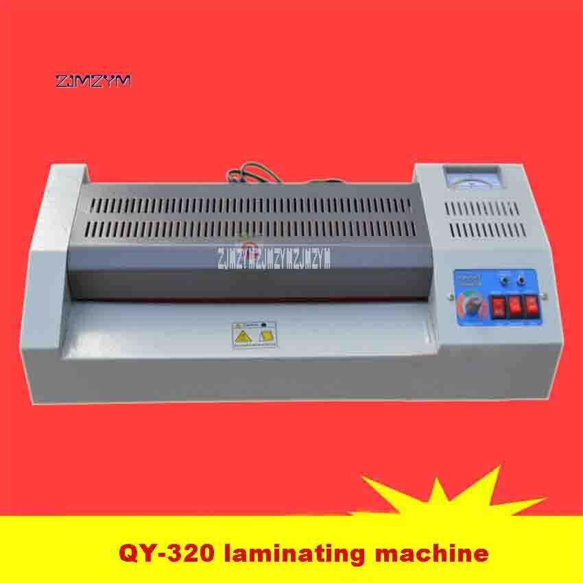 110V/220V QY-320 Laminating Machine Home Office A3 Photo A4 Metal Case Laminator 600W 320mm 420mm/min 4-6min 75-200mic Hot Sale a3 photo laminator office hot