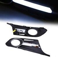 Left & Right Black Car Front Bumper Lower Grille Grill Black Fog Light Cover Case Fit for VW Jetta MK6 2011 2014 Pre facelift