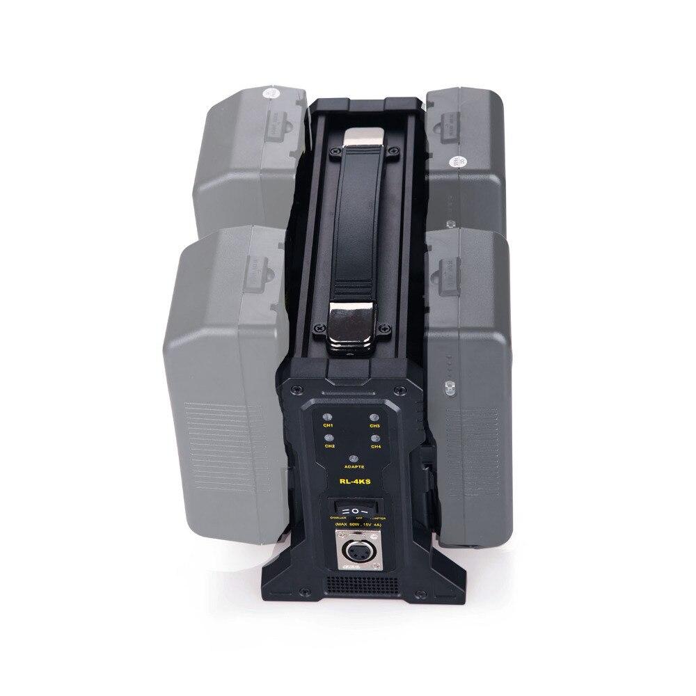 Rolux camera video Four channel V lock Battery Charger FOUR channel V Mount camera Battery Charger(battery not included) v lock v mount батареи адаптер знака конвертер sony hdv зеркалка энергоснабжение