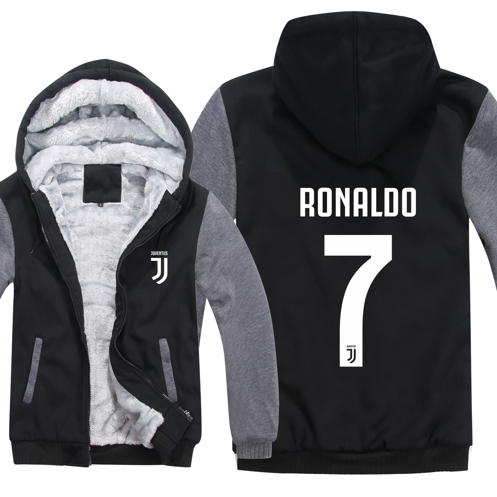 Hoodies Men Sweatshirts Jacket Pullover Wool-Liner Casual Coat CR7 Cristiano Ronaldo