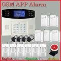 Menu de APLICATIVOS inteligente LCD kit de automação residencial Sem Fio 433 MHZ SMS GSM Dual Network Assaltante Sistemas de Alarme de Segurança Detector Sensor