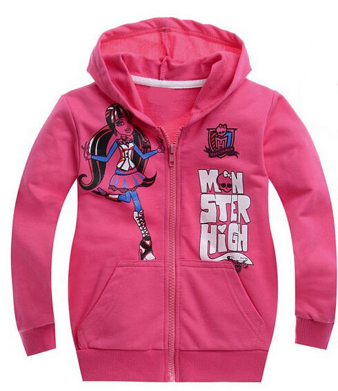 new 2016,autumn,winter clothing,monster fashion girls clothes,baby,children hoodies,children girl outerwear
