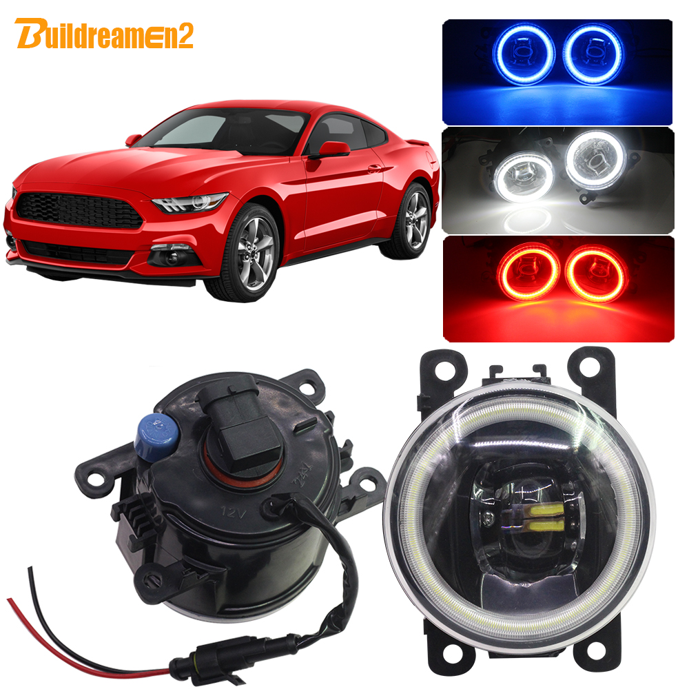 Buildreamen2 For Ford <font><b>Mustang</b></font> Car 4000LM H11 LED Bulb Fog Light Angel Eye DRL 12V 2005 <font><b>2006</b></font> 2007 2008 2009 2010 2011 2012 2013 image