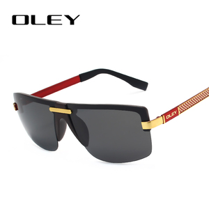 Image 3 - OLEY Fashion Mens Frameless Polarized Sunglasses Classic Pilot Goggles  UV400 Gafas De Sol  Y4909 Support custom LOGO