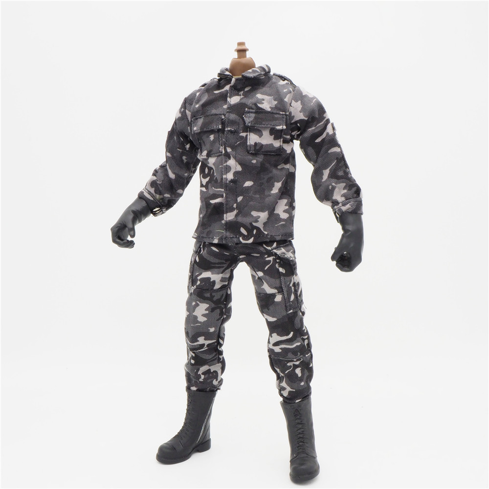 <font><b>1/6</b></font> <font><b>Scale</b></font> Accessories <font><b>Female</b></font> <font><b>Clothes</b></font> Urban Camo Uniforms set For 12