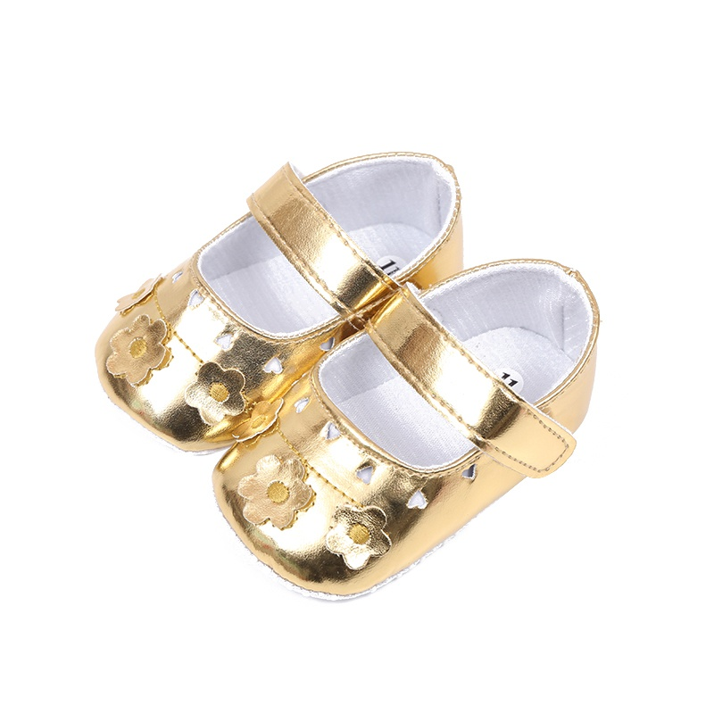Baby Girls Princess Shoes PU Leather Hollow Out Flower First Walkers Soft Sole Shoes