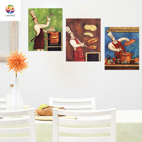 New Frameless Graffti Street Wall Art Abstract Modern Kitchen Portrait Canvas Oil Painting Set Printed Painted
