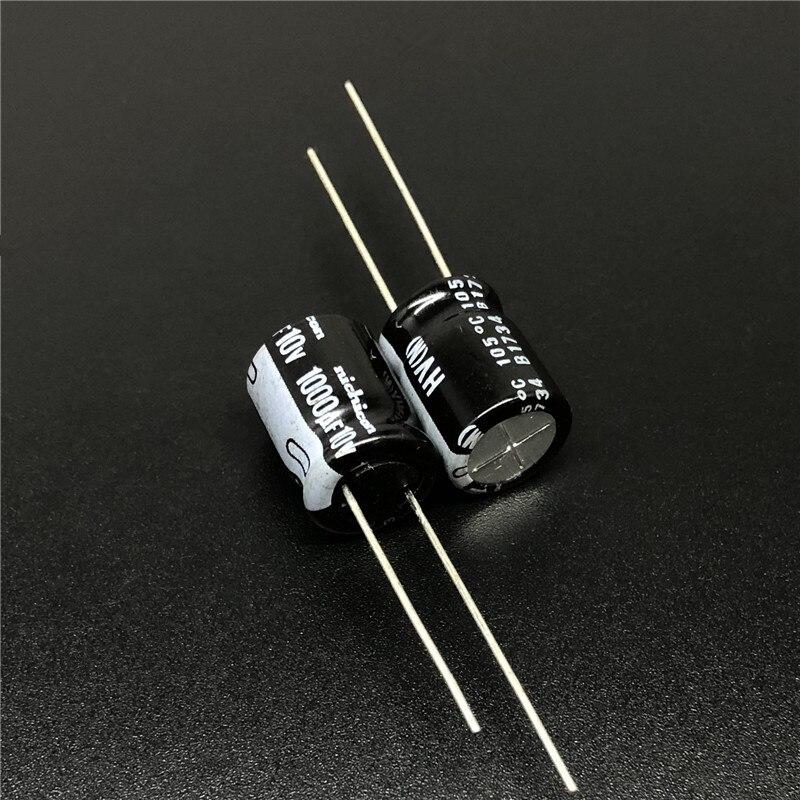 10pcs/100pcs 1000uF 10V NICHICON HV Series 10x12.5 High Ripple Current Low Impedance 10V1000uF Aluminum Electrolytic Capacitor