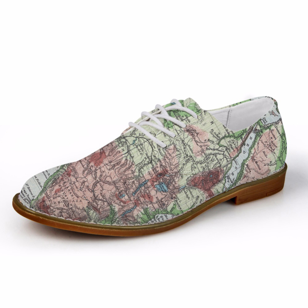 Customized Retro 3D Map Printed Fashion Men Leather Dress Shoes High Quality Men Oxfords Shoes Flats Mens Casual Oxford ShoesCustomized Retro 3D Map Printed Fashion Men Leather Dress Shoes High Quality Men Oxfords Shoes Flats Mens Casual Oxford Shoes