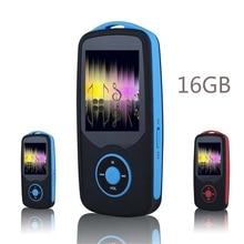 2017 Original RUIZU X06 Bluetooth Sport MP3 Reproductor de música 16G 1.8 Pulgadas de Pantalla 100 horas sin pérdidas de alta calidad Grabadora Walkman Azul