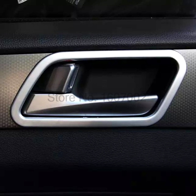 For Hyundai Sonata 2015 2016 Left Handed Driving Model Car Matte Chrome  Interior Door Handle