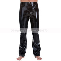 Rubber Latex Man Trousers Pants Costumes with Pockets Plus Size XXXL Supply Custom Made S LTM019