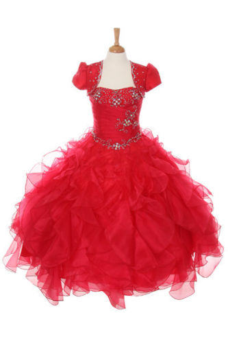 New Glitz Pageant National Girl Party Dress Bolero Red 3 4 5 6 7 8 10 12 14 16 embossed tpu gel shell for ipod touch 5 6 girl in red dress