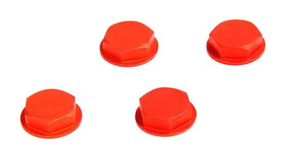 Ruedas de aleación baja color naranja tuerca