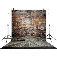 Wooden Red Brick Wall Backgrounds High Grade Vinyl Cloth Computer Printed Wooden Photo Backdrop