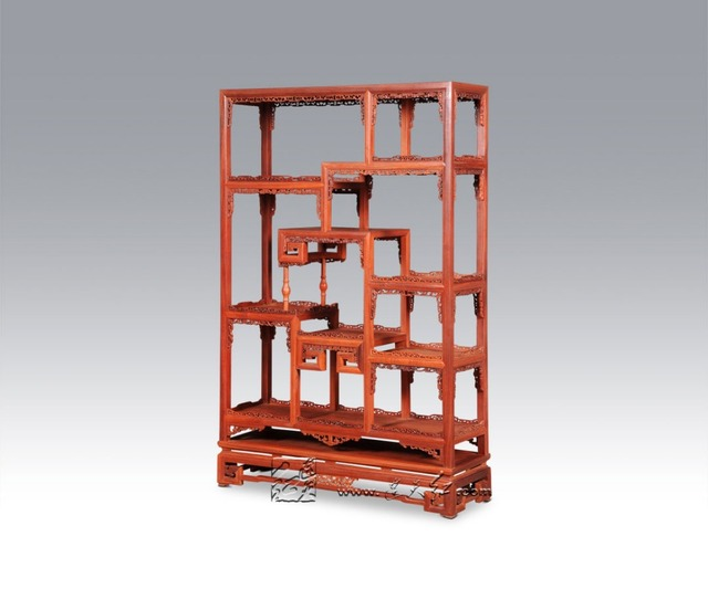 Beau Whatnot New Chinese Style Antique Curios Cabinet Rosewood Living Room  Furniture Filing Display Rack Solid Wood