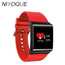 NIYOQUE Mode X9 Pro Buetooth Montres Passometer Fitness Bracelet Coeur Taux Tracker Écran Tactile Montre Smart Watch Coloré