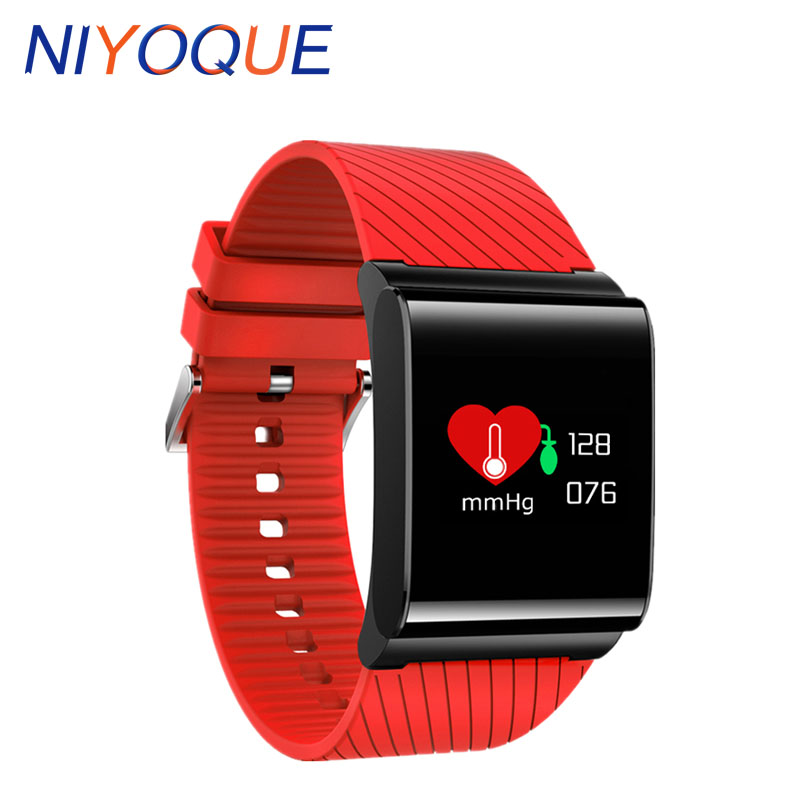 NIYOQUE Fashion X9 Pro Buetooth Watches Passometer Fitness Bracelet Heart Rate Tracker Touch Screen Smart Watch Colorful