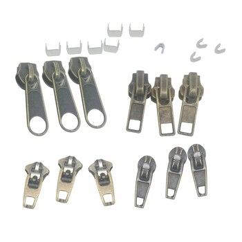 22 Pieces/set Replacement Zipper Repair Kit Zip Stops Sliders for Sewing Supplies DIY Jeans Garment Handicrafts Accessories
