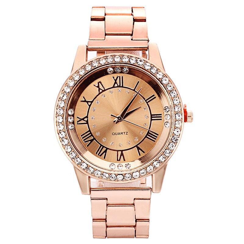 Fashion Roman numerals Watch Women Watches Diamond Women's Watches Rose Gold Ladies Watch Women relogio feminino