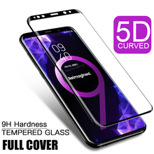5D Full Tempered Glass For Samsung Galaxy S8 S9 S10 S6 S7 Edge Plus Lite Note 8 9 Curved Screen Protector For Samsung S10 Film все цены