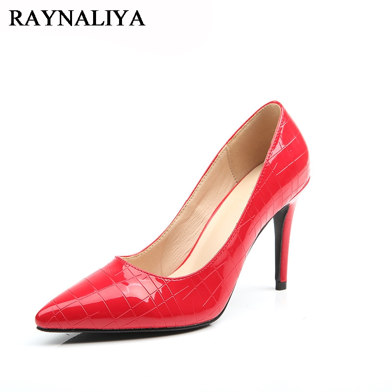 Plus Size 2017 New Spring Classic Women Pumps Fashion High Heel Gold Sliver Office Wedding Casual Pointed Toe Shoes  BLY-A0020 jeans spring new women jeans slim elastic skinny straight trousers ladies fashion full length plus size denim casual pants