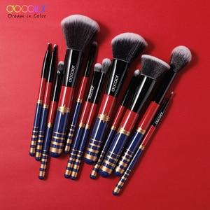 Image 4 - Docolor 12PCS Makeup Brushes Set Professional Foundation Powder Blush Eye Shadow Lip Blend Make Up Brush Cosmetic Tool Kit